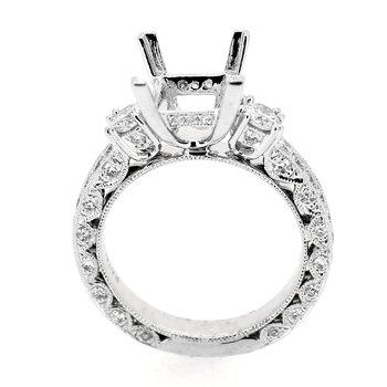 Ornate Diamond Ring Mounting