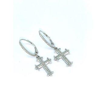 Gothic Inspired Cross Earrings