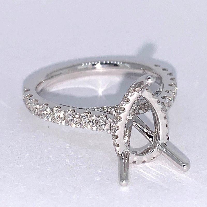 Decor Pear Shaped Diamond Ring Mounting