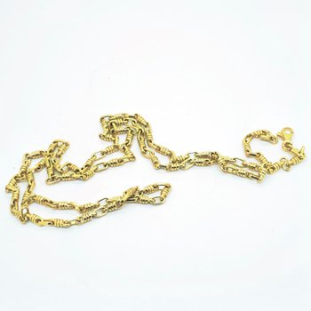 Fancy Link Gold Chain Necklace