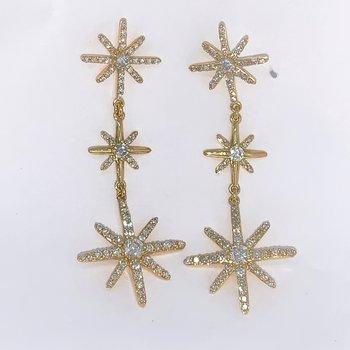 Starburst Diamond Drop Earrings