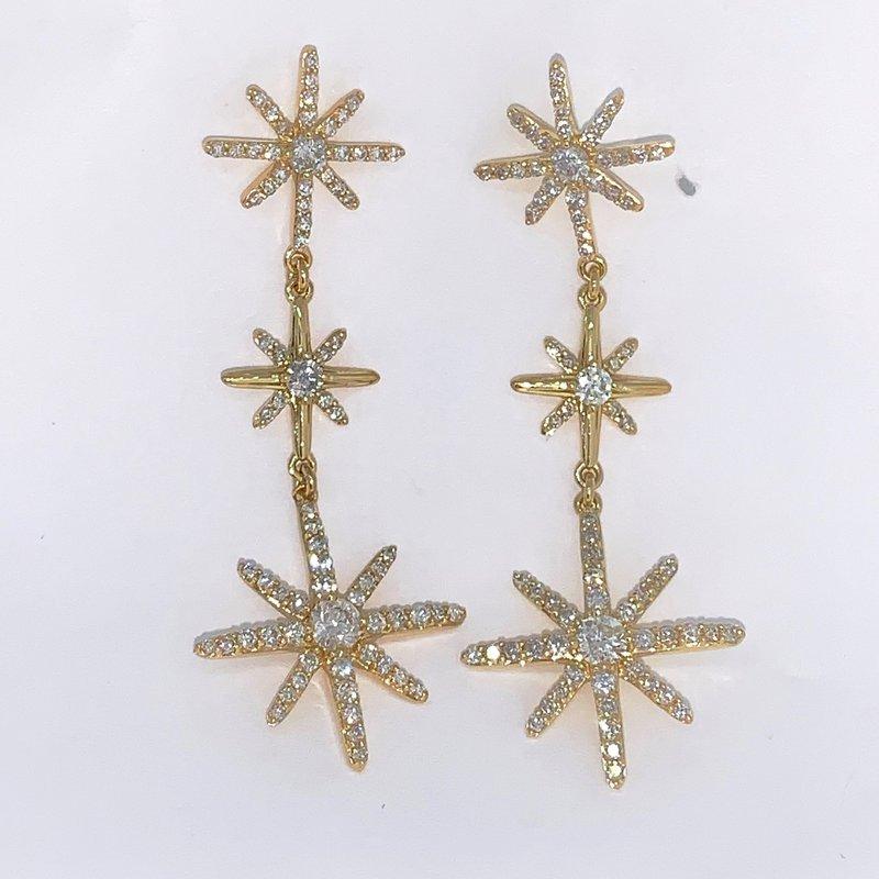 Decor Starburst Diamond Drop Earrings