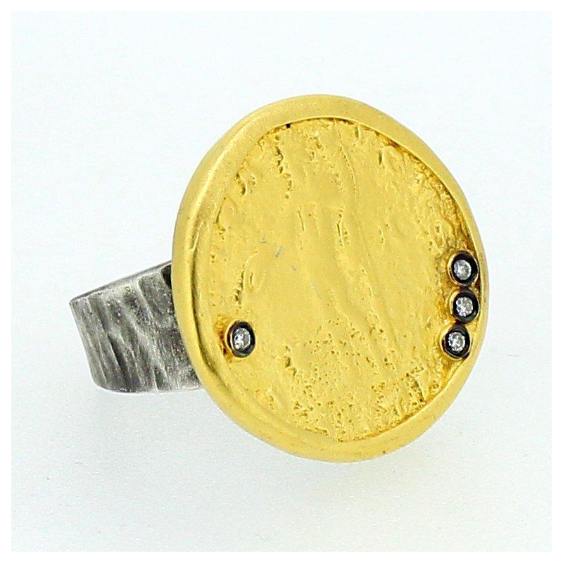 Kurtulan Diamond Coin Ring