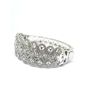 Vintage Inspired Diamond Cuff Bracelet