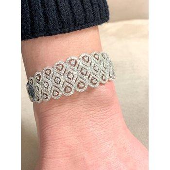 Vintage Inspired Diamond Cuff Bracelet