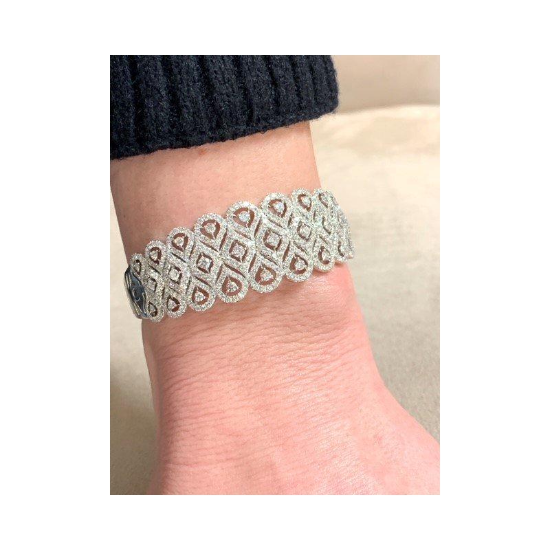 Decor Vintage Inspired Diamond Cuff Bracelet
