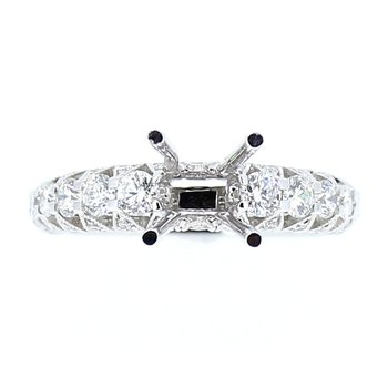 Geometric Diamond Ring Mounting