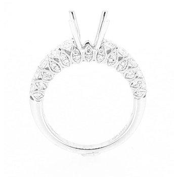 Geometric Diamond Ring Mounting