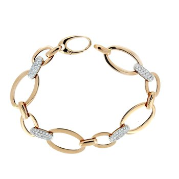 Elegant Rose Gold Diamond Link Bracelet