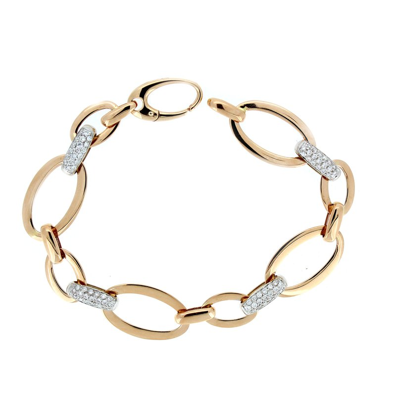 Decor Elegant Rose Gold Diamond Link Bracelet