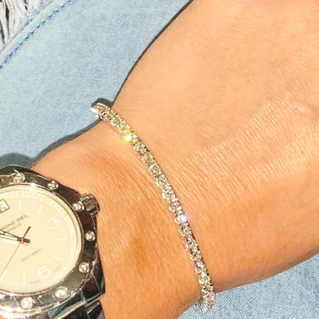 4.02ctw Diamond Tennis Bracelet