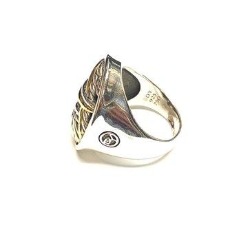 2 Tone Open Design Ring