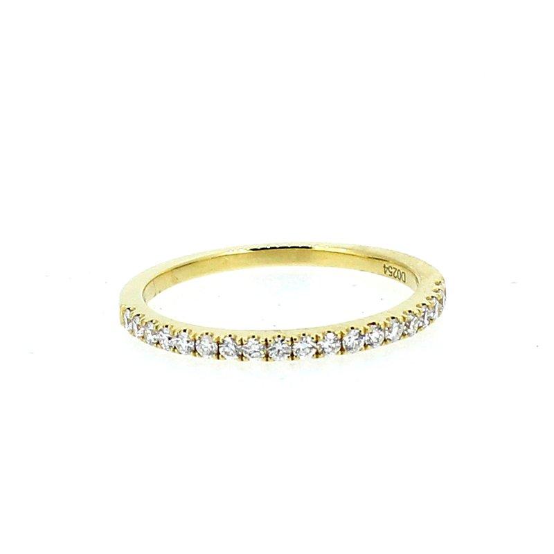 Decor Yellow Gold Diamond Wedding Band