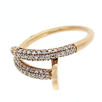 Pave Diamond Nail Ring