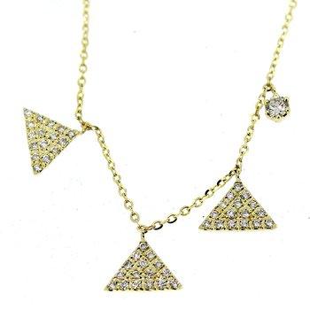 Triangles Diamond Necklace