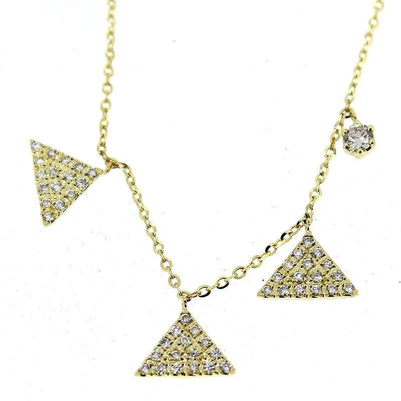 Sabrina Triangles Diamond Necklace