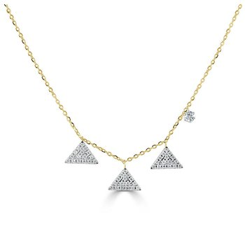 Triangles Diamond Necklace