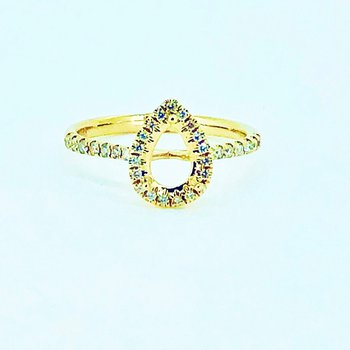 Pear Halo Diamond Ring Mounting