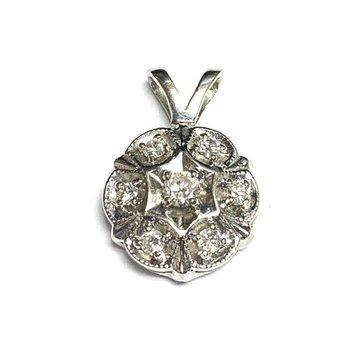 Vintage Diamond Cluster Pendant