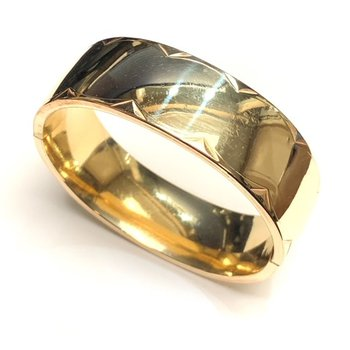 Wide Gold Bangle