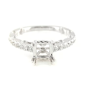 Diamond Ring Mounting with Ornate Gallery