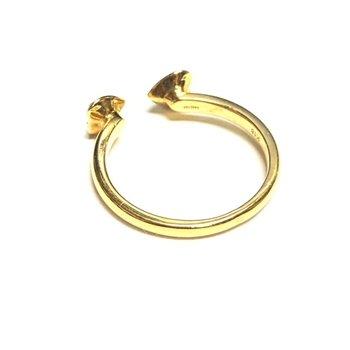 Split Heart Diamond Ring