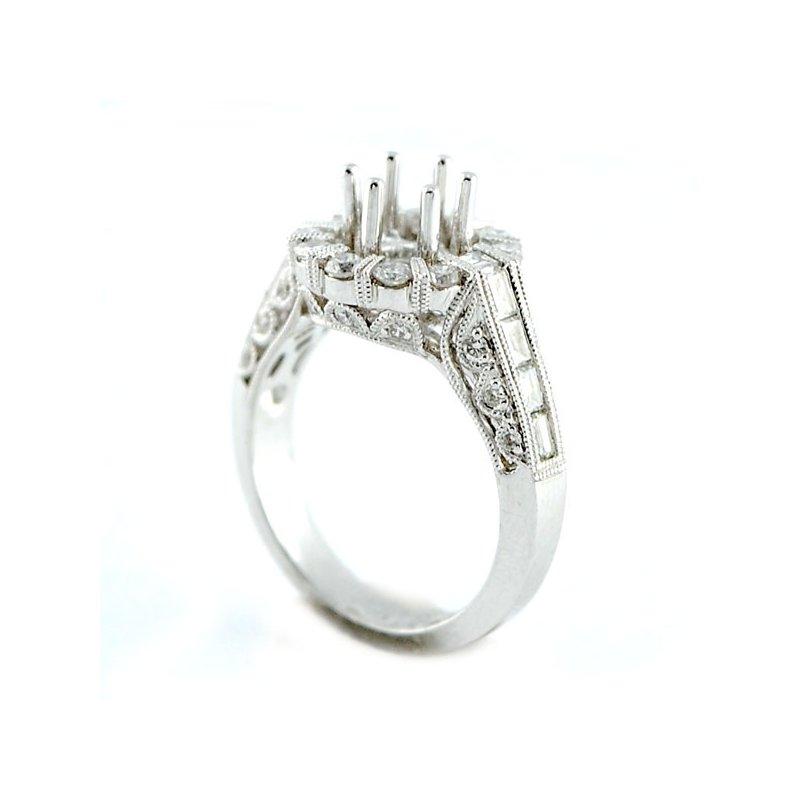 Decor Exquisite Halo Diamond Engagement Ring Mounting