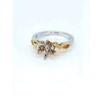 Two Tone Diamond Ring Mounting
