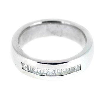 Gent's Diamond Wedding Band 14k White Gold