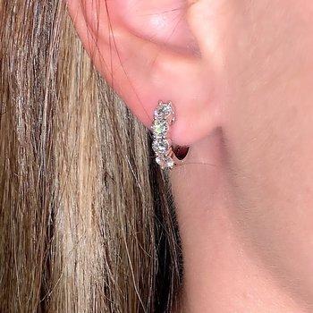 1.47ctw Diamond Huggie Hoop Earrings