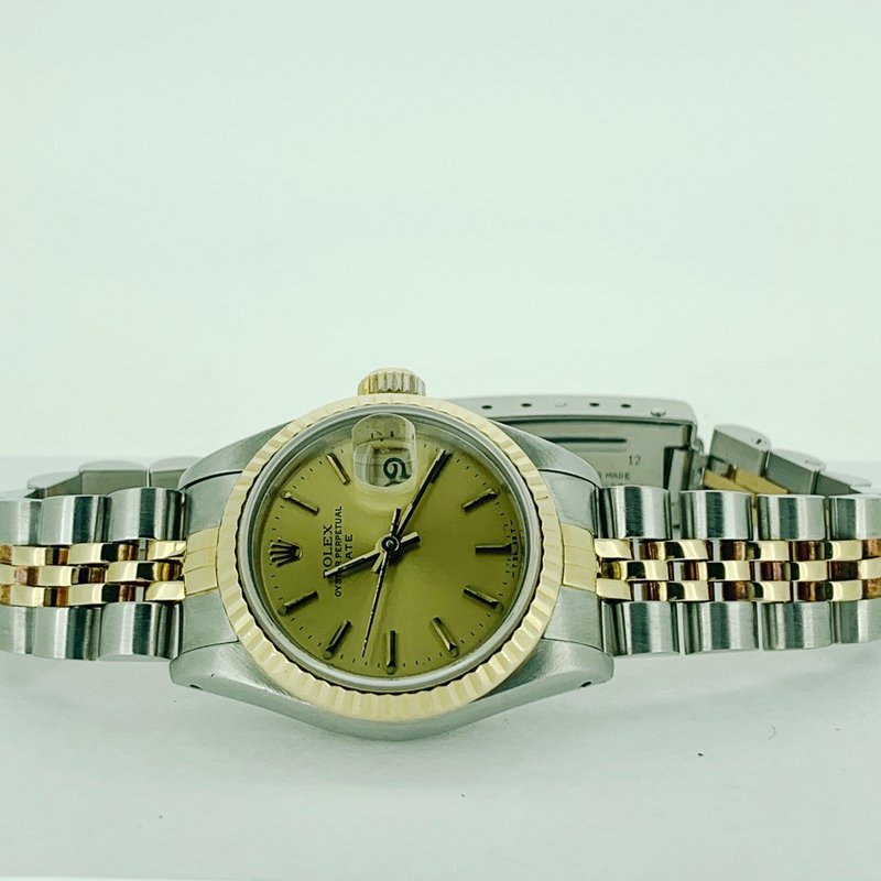 Pre-owned Rolex Ladies Two Tone Datejust