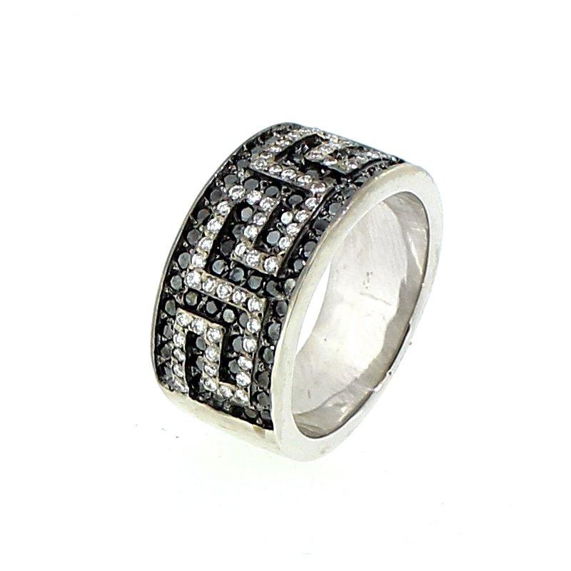 Decor Black & White Diamond Band