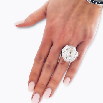 Floral Pave Interchangeable Ring/Pendant
