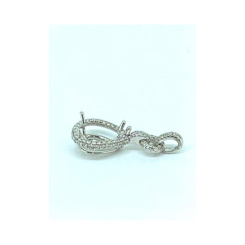 Siera Pear Shaped Diamond Pendant Mounting