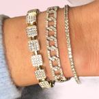 Decor Diamond Link Bracelet