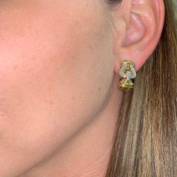 Vintage Buckle Diamond Earrings