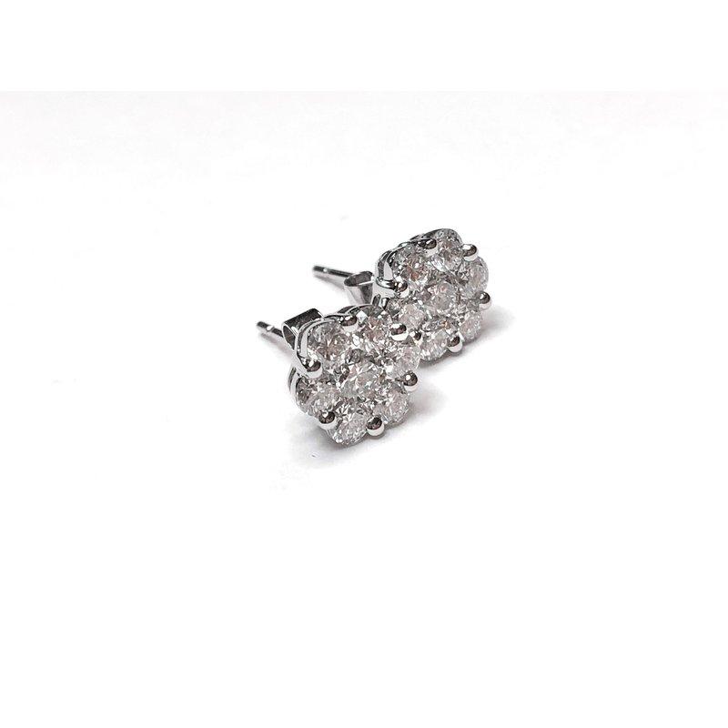 Decor Diamond Cluster Earrings
