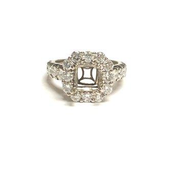 Square Halo Diamond Mounting