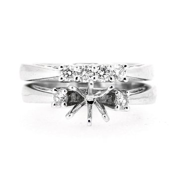 Engagement Ring Mounting & Diamond Band