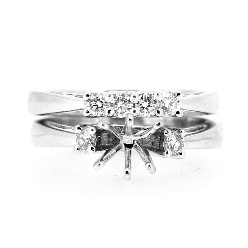 Decor Engagement Ring Mounting & Diamond Band
