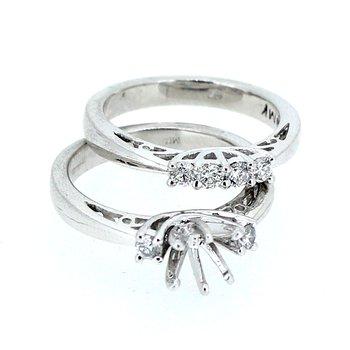Engagement Ring Mounting & Diamond Band