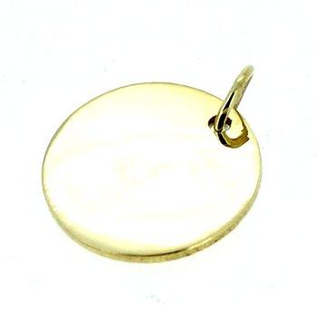 Round Engravable Disc Pendant Charm