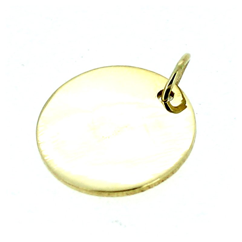 Decor Round Engravable Disc Pendant Charm