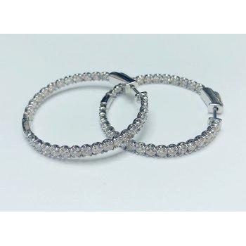 3.00ctw Diamond Hoop Earrings