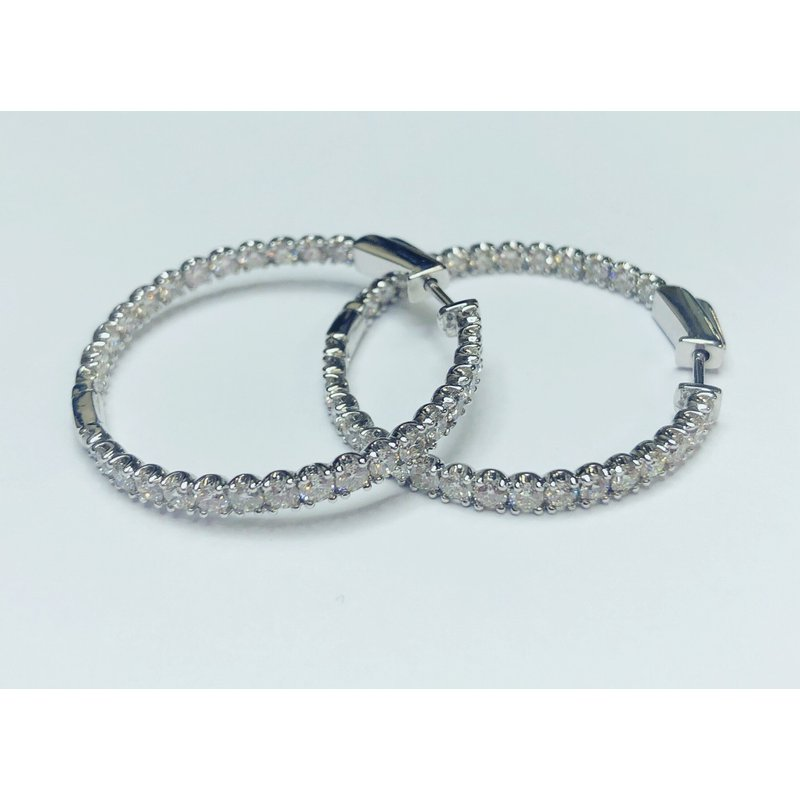 Decor 3.00ctw Diamond Hoop Earrings