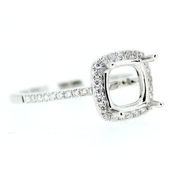 Square Halo Diamond Ring Mounting