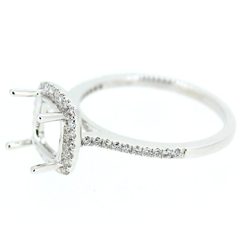 Decor Square Halo Diamond Ring Mounting