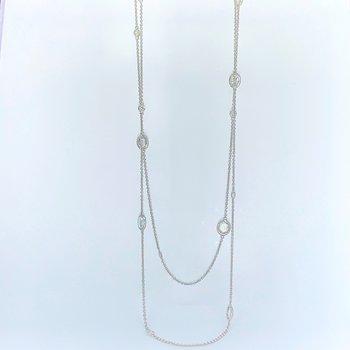 """4.79ctw Rose Cut Diamond Necklace 36"""""""