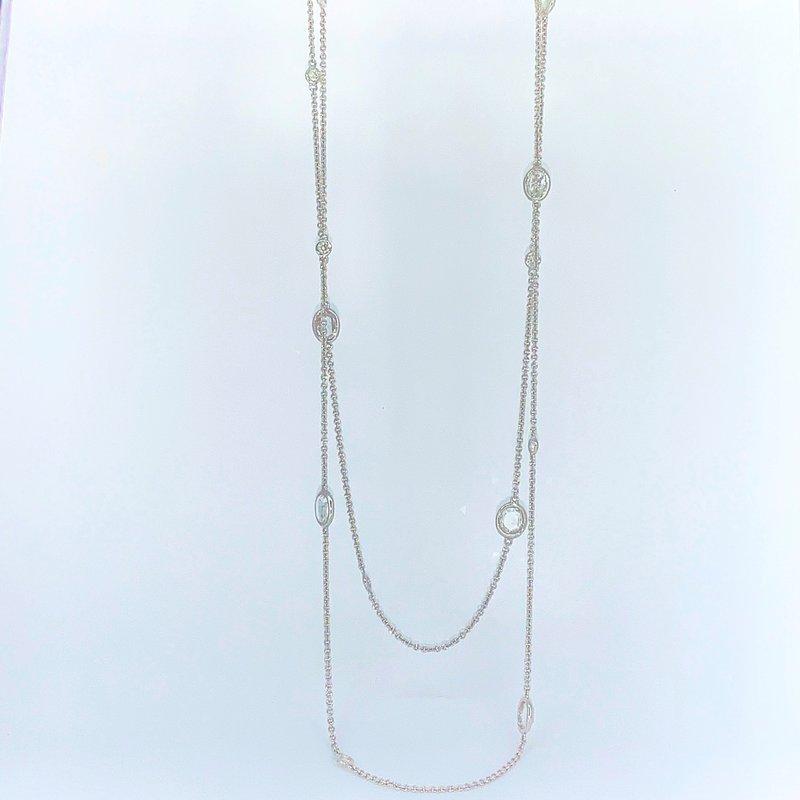 """Decor 4.79ctw Rose Cut Diamond Necklace 36"""""""