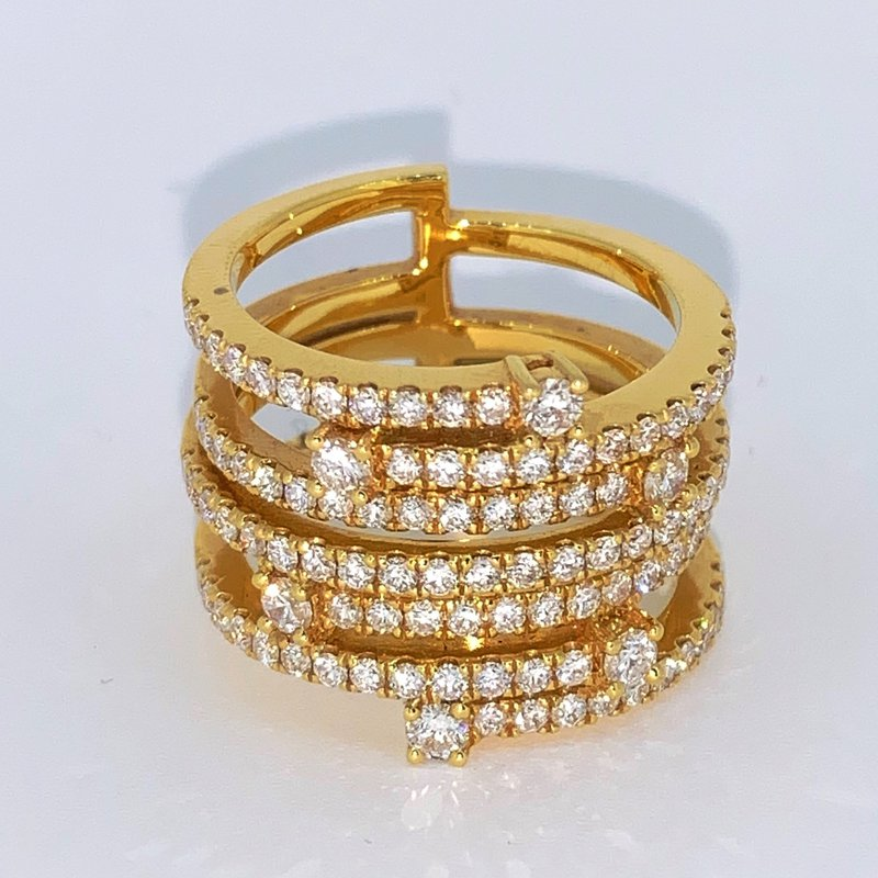 Decor Multi Row Diamond Band